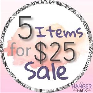 💛5 for $25💛 Sale Starts Now!